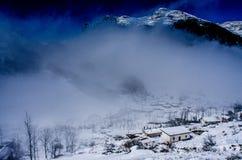Pueblo de la nieve Fotografía de archivo
