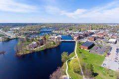 Pueblo de la opinión aérea de Potsdam, NY, los E.E.U.U. fotos de archivo libres de regalías
