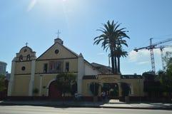 Pueblo De La Reyna父亲建立的德洛斯安赫莱斯Junipero Serra在街市洛杉矶 免版税图库摄影