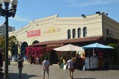 Pueblo De La Reyna De Los Angeles Founded By Father Junipero Serra In Downtown Los Angeles. July 7, 2017. Downtown Los Angeles California. USA. EEUU Stock Photos