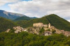Pueblo de Lazio apennines Fotos de archivo libres de regalías