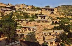 Pueblo de Lijiashan en la provincia de Shanxi en China imagen de archivo