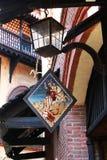 Pueblo de Medioeval Fotografía de archivo libre de regalías