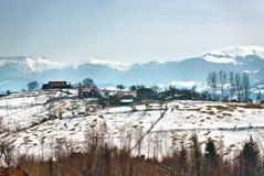 Pueblo de montaña Imagen de archivo libre de regalías