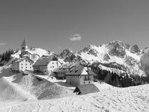 Pueblo de montaña Foto de archivo