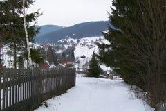 Pueblo de montaña Foto de archivo libre de regalías