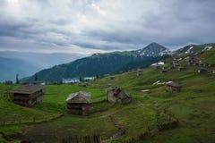 Pueblo de montaña abandonado Fotografía de archivo libre de regalías