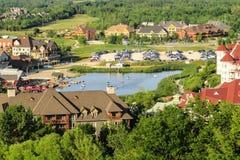 Pueblo de montaña azul, Ontario Canadá Foto de archivo libre de regalías