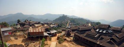 Pueblo de montaña, el Estado de Shan, Myanmar Imagenes de archivo