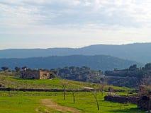 Pueblo de montaña en España Foto de archivo