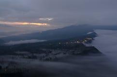 Pueblo de montaña en Probolinggo Foto de archivo