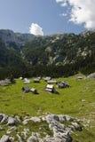 Pueblo de montaña, Eslovenia Fotos de archivo