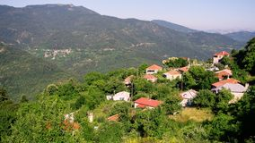 Pueblo de montaña griego Foto de archivo