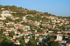 Pueblo de montaña mediterráneo Imagen de archivo libre de regalías