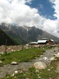 Pueblo de montaña remoto Imagenes de archivo