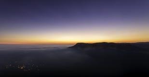 Pueblo de montaña soñoliento Fotos de archivo libres de regalías
