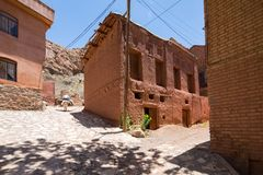 Pueblo de monta?a Abyaneh en la parte central de Ir?n imagen de archivo