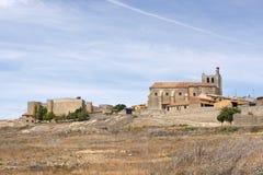 Pueblo de Montealegre de Campos, región de Tierra de Campos, Vall Imagenes de archivo
