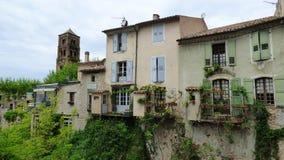 Pueblo de Moustiers-Sainte-Marie, Francia, Europa fotos de archivo