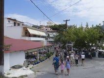 Pueblo de Neos Marmaras, Sithonia, Grecia Foto de archivo libre de regalías