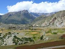 Pueblo de Ngawal, Nepal Imagen de archivo libre de regalías