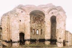 Pueblo de Ninotsminda, región de Kakheti, Georgia Ruinas del monasterio viejo de la iglesia del santo Nino, Ninotsminda cerca de  Fotografía de archivo