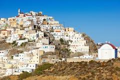 Pueblo de Olympos en Karpathos, Grecia Imagen de archivo