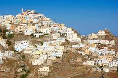 Pueblo de Olympos en Karpathos, Grecia Foto de archivo libre de regalías