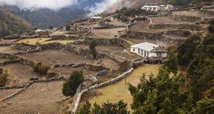 Pueblo de Pangboche Imagenes de archivo