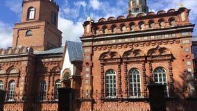 Pueblo de Pirevichi, distrito de Zhlobin de la región de Gomel de Bielorrusia Toda la iglesia de los santos es cultural y arquite almacen de metraje de vídeo