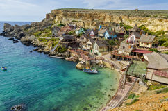 Pueblo de Popeye - Malta Imagen de archivo libre de regalías