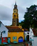 Pueblo de Portmeirion Foto de archivo libre de regalías