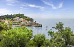 Pueblo de Przno montenegro Imagen de archivo libre de regalías