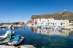Pueblo de Punto Longa, Favignana, Sicilia Fotos de archivo
