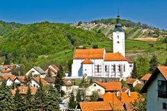 Pueblo de Remetinec en Zagorje Foto de archivo