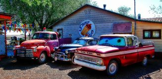 Pueblo de Route 66 imagen de archivo