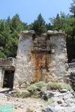 Pueblo de Samaria en la garganta del samaria Imagen de archivo libre de regalías
