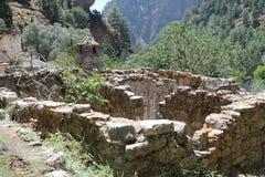 Pueblo de Samaria en la garganta del samaria Foto de archivo