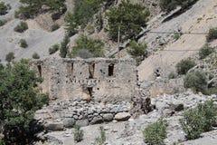Pueblo de Samaria en la garganta del samaria Foto de archivo libre de regalías