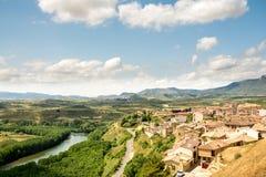 Pueblo de San Vicente de la sonsierra, España Fotos de archivo libres de regalías