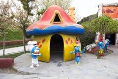 Pueblo de Smurfs Foto de archivo libre de regalías