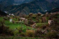 Pueblo de Spoluka, Rhodopes del este, Bulgaria Imagen de archivo