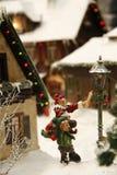 Pueblo de Toy Christmas Fotografía de archivo