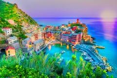 Pueblo de Vernaza en Cinque Terre Fotografía de archivo