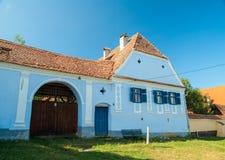 Pueblo de Viscri e iglesia fortificada de Viscri, Transilvania, ROM fotos de archivo