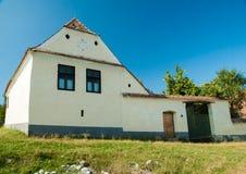 Pueblo de Viscri e iglesia fortificada de Viscri, Transilvania, ROM imagenes de archivo