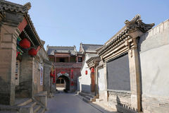 Pueblo de Warm Springs, castillo del oeste de Hebei Yuxian Imágenes de archivo libres de regalías