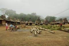 Pueblo de Wogo, isla de Flores Fotos de archivo libres de regalías