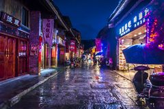 Pueblo de Xingping, región de Guilin, provincia de Guangxi, China fotografía de archivo
