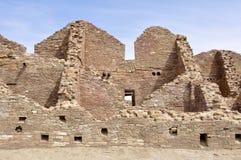 Pueblo del阿罗约废墟, Chaco峡谷,新墨西哥(美国) 免版税库存照片